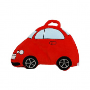 Linzy Plush Take Along Car Baby Pillow Blanket, Red, 100cm