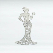 qianziqianse Metal Beauty Evening Dress Cutting Dies Scrapbook Card Paper Stencils Craft