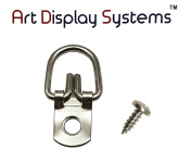 ADS D-Ring Picture Hangers with Screws - Pro Quality - 100 Pack by ART DISPLAY SYSTEMS