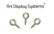 ADS Small Screw Eye 214 1/2 Screw Eyes - 200 Pack by ART DISPLAY SYSTEMS