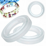 Yalulu 3Pcs Assorted Size Bangle Bracelet Jewellery Silicone Mould Mould , for Polymer Clay, Crafting, Jewellery Making