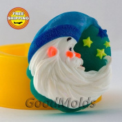 Silicone soap mould Santa 4 soap mould Food grade silicone moulds soap mould christmas mould silicone mould new year mould
