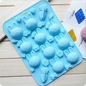 . Cute Rabbit Shape 10 holes Silicone cake chocolate soap silicone mould mould for fondant handmade soap cookies mould