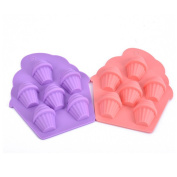 KuXun Coolest 6-Cube Silicone Ice Tray – 2-Piece Mould Set – Make 12 Cube, Cute Shapes for Children