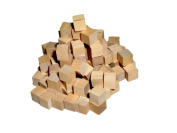 Wood Cubes - Bag of 50 - 1.6cm - Unfinished Blank Craft Cubes / Blank Dice / Toy Blocks