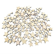 Kalevel 100pcs Wooden Wedding Decorations Wedding Table Decorations Graduation Party Decorations Wedding Reception Decorations Rustic Proposal Decorations Blank Wood Stars for Crafts