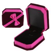SELFON Velvet Ring Jewellery Box Necklace Pendant Organiser Gift Case For Wedding Birthaday