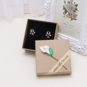 SELFON Necklace Ring Earring Jewellery Display Gift Storage Case Box Paper Cardboard