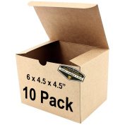 "10 x Mighty Gadget (R) Kraft Party Favour Boxes - 6 x 4.5 x 4.5"" Gift Boxes"