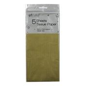 Tissue Paper - Metallic Gold - 5 Sheets - Size 50cm x 70cm