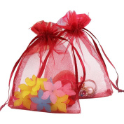 """100PCS Extra Large Organza Gift Bags13X18CM (5"""" x 7"""") Drawstring Pouches Jewellery Wedding Party Favour Gift Bags Candy Bags"""