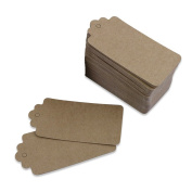 Just Artefacts 100pc Kraft Paper Gift Tags - Heavy Cardstock Gift Tags for Gift Wrapping