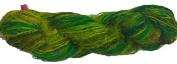 Knitsilk Rebel Greenish Multicolor Sari Silk Yarn -