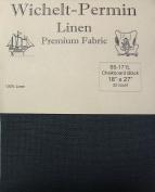Wichelt Permin 100% Linen Chalkboard Black 32 Ct 46cm x 70cm Cross Stitch Fabric