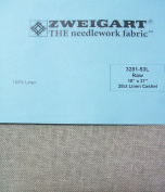 Zweigart 100% Linen Cashel Raw 28 Ct 46cm x 70cm Cross Stitch Fabric 3281-53L