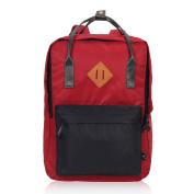 Veevan Unisex Large School Bags Travel Rucksack Laptop Backpack for Teenager Girls Boys Red