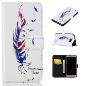 Galaxy S6 Case,BONROY® Samsung Galaxy S6 G920 (2015 Version) Painting design PU Leather Phone Holster Case, Flip Folio Book Case, Wallet Cover with Stand Function, Card Slots Money Pouch Protective Leather Wallet Case for Samsung Galaxy S6 G920 (2015 V ..