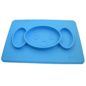 Non-Slip Silicone Placemat Suction Plate for Toddlers,Children,Infants, Kids & Babies – Toddler Divided Plates - Strong Suction Tray – 100% Safe Food Mat