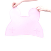 Food-grade, Non-slip Anti-microbial Lovely Rabbit Silicone Placemat Table Mat