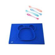 Feeding Bundle Includes Nuby Hot Safe Feeding Spoons and NewHal Place Mat for Kids – Three Colours Available