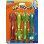 The First Years Take & Toss Toddler Flatware, 16 Piece New
