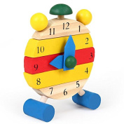Baby Kids Time Clock Wooden Clock Pre-School Learning Toy Numbers Fun Activity Toys New