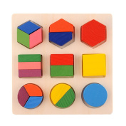 Baby Wooden Building Block Montessori Early Educational Toys Intellectual Geometry Toy