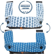 Drool and Teething Pad Reversible Organic Cotton 3-Piece set for Ergobaby Four Position 360 Baby Carrier by Amazing Tot