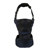 crownroyaljack Multi-functional Front Back Baby Carrier Baby Holder Waist Seat with Thicker Shoulder Straps & Breathable Mesh,Blue