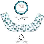 Kaydee Baby Organic Reversible Drool & Teething Pad With Fleece Inner Lining for Ergobaby Carrier - Flower & Herringbone