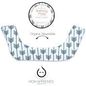 Kaydee Baby Organic Reversible Drool & Teething Pad With Fleece Inner Lining for Ergobaby Carrier - Arrows