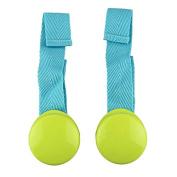 Amigo Global Multipurpose Baby Cart Clip Baby Blanket Smooth Bright Colour Anti Kick 2 PCS - Green