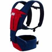 Breathable All Season Baby Carrier Backpack Sling 2 in 1 with Hipseat and Detachable Pocket Blue Max 23kg