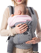 Vlokup Baby Carrier for Newborn Infant Wrap Toddler Carrier Backpack Grey Chevron