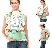 MiniQ Baby Carrier with Detachable Hip Seat, Cotton,