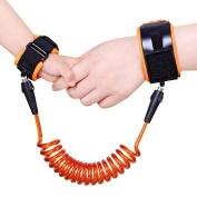 Child Baby Anti Lost Wrist Link-Child Safety Wrist Strap-Harness Safety Strap- (2.5m/250cm ) Orange