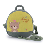 Me Too Toddler Green Bear Safety Backpack with Leash 24cm