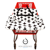 Kaydee Baby Shopping Cart and High Chair Cover (Black and White Swiss Cross) - Perfect Unisex Gift For Boys and For Girls