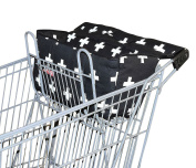 Bambella Designs Shopping Cart Liner - Black Crosses