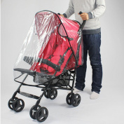 Pesp Universal Baby Stroller Waterproof Rain Cover Wind Shield Fit Most Strollers Pushchairs