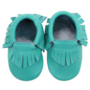 TRENDINAO Toddlers Kids Boys Girls Faux Leather First Walker Moccasin Shoes
