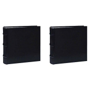 Pioneer Photo Albums Leather Bi-Directional Album 4X6 100 Photo Black TWO PACK