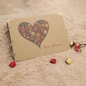 Heart Photo Album Handmade Vintage De Fotos Scrapbooking Paper Valentine's Gift Good Way To Retain Memories Wonderful For Your Friends