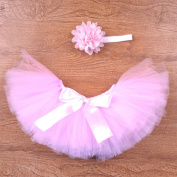 Early Buy Newborn Baby Photography Prop Infant Tutu Skirt(Pink & white)