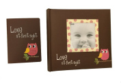 "Pink Baby Owl ""Love at First Sight"" Photo Albums Gift Bundle"
