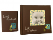 "Blue Baby Owl ""Love at First Sight"" Photo Albums Gift Bundle"
