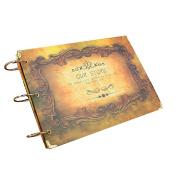 Album Hand Scrapbook DIY Album Photo Album Couple Memorial Album Creative Gifts Memorial Our Story 19X27CM 1PCS