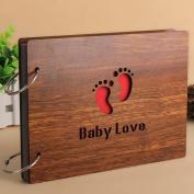 XDOBO Baby Photo Album Wood DIY Anniversary Scrapbook Album, Photo Album - Baby Love