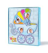 "FaCraft Baby Boy Photo Album Holds 80 4x6 Photos ""Happy Smile"" with Gift Storage Box"