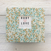 Mint & Gold Shimmer Baby Memory Book - Ruby Love 1st Year Baby Book